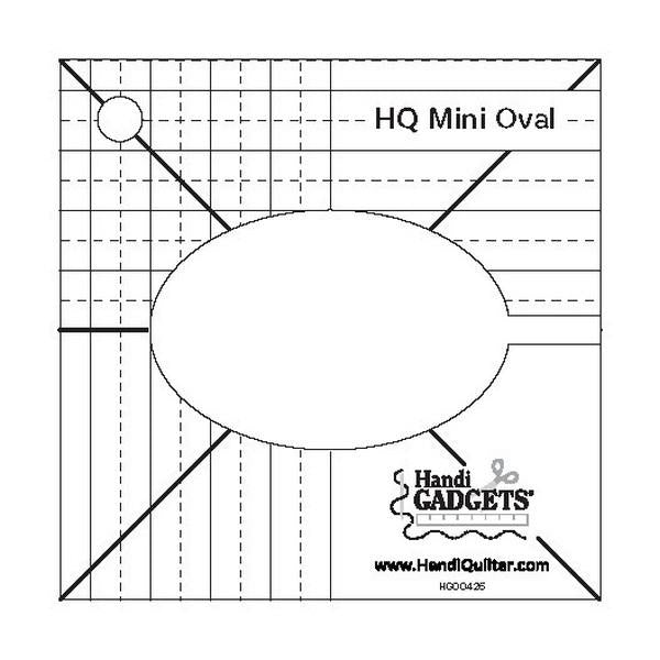 Handi Quilter Mini Oval Ruler available in Canada at The Quilt Store