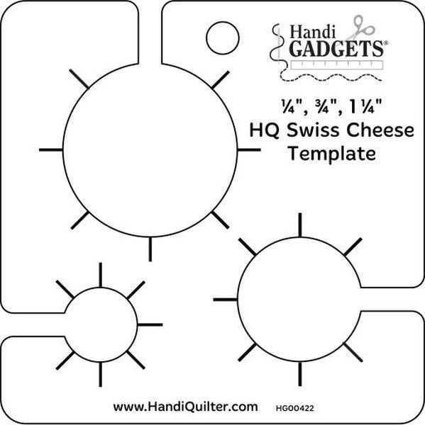 Handi Quilter Swiss Cheese Ruler available in Canada at The Quilt Store