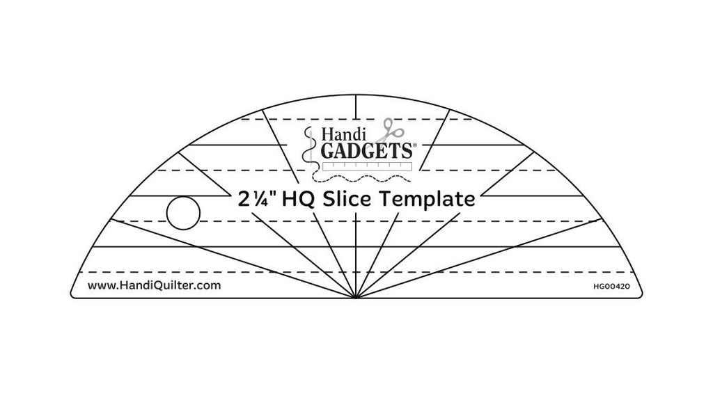HandiQuilter Slice Ruler available in Canada at The Quilt Store