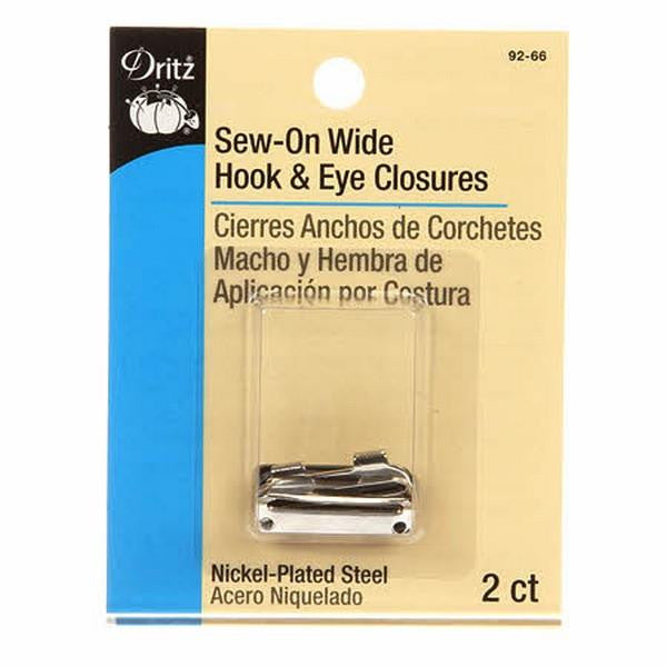 Dritz Sew-on Wide Hook & Eye Closures