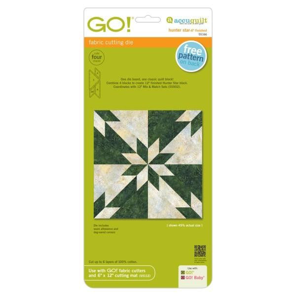 AccuQuilt Go! Fabric Cutting Die Hunter Star