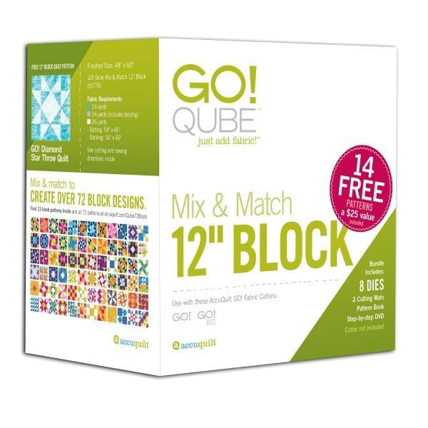 "AccuQuilt Go! Qube Mix & Match 12"" Block"