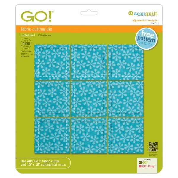"AccuQuilt Go! Fabric Cutting Die Square - 2 1/2"" Multiples"