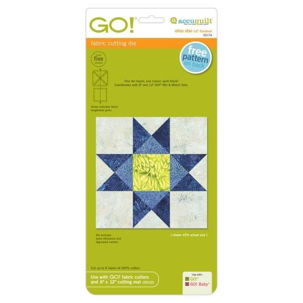 AccuQuilt Go! Block on Board Ohio Star