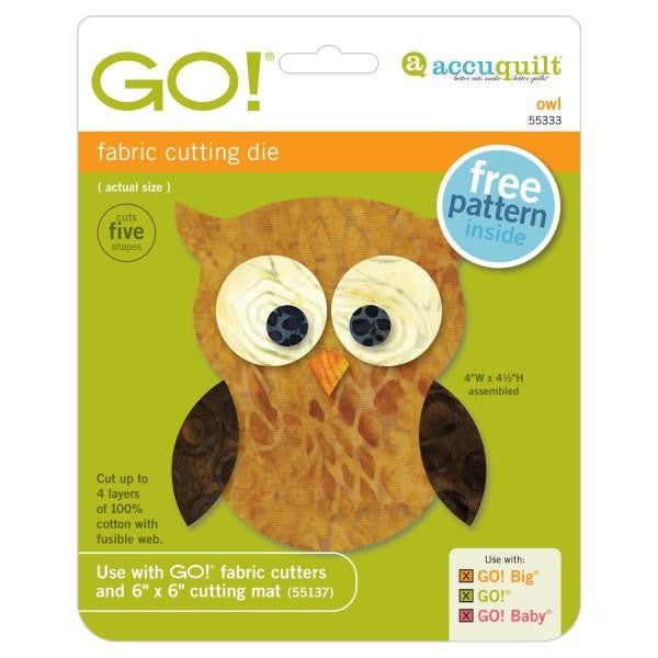 AccuQuilt Go! Fabric Cutting Die Owl