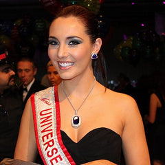 Miss Universe wearing Rasko Jewellery