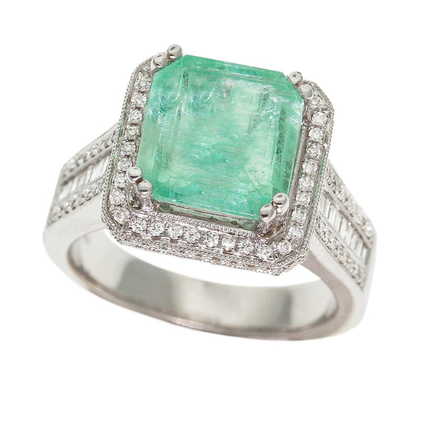 Columbian Pastel Emerald Ring