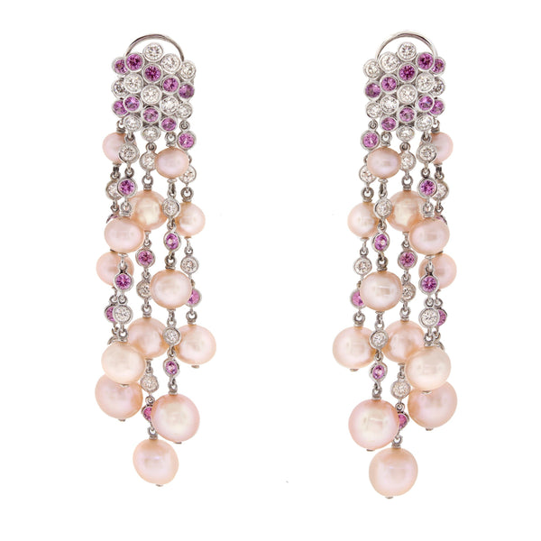 Fireworks | Pink Pearl Earrings