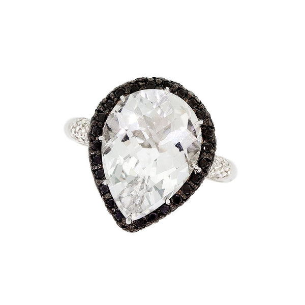 Crystal And  Diamond Ring