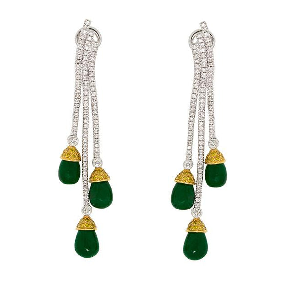 Wind Chime |  Emerald Earrings