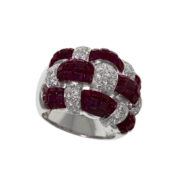 Balance | Woven Ruby Ring