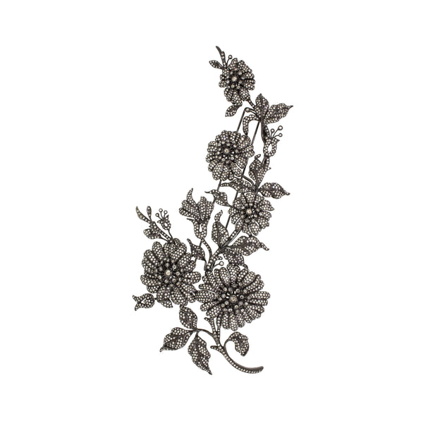 Midnight Bloom |  Diamond Brooch