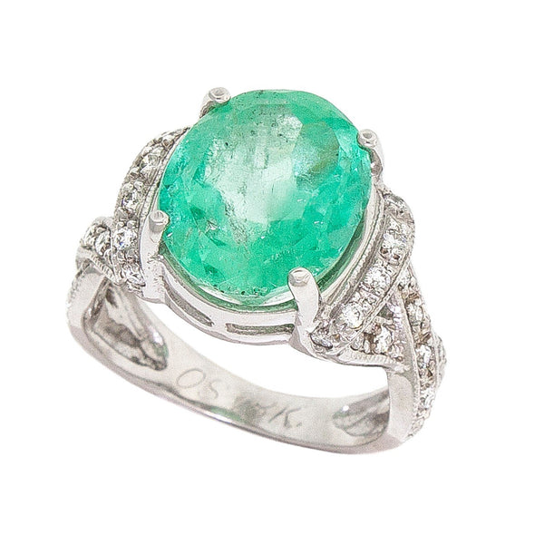 Promise | Oval  Emerald Ring