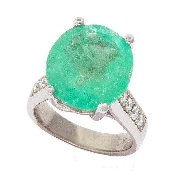 Promise | Round Emerald Ring