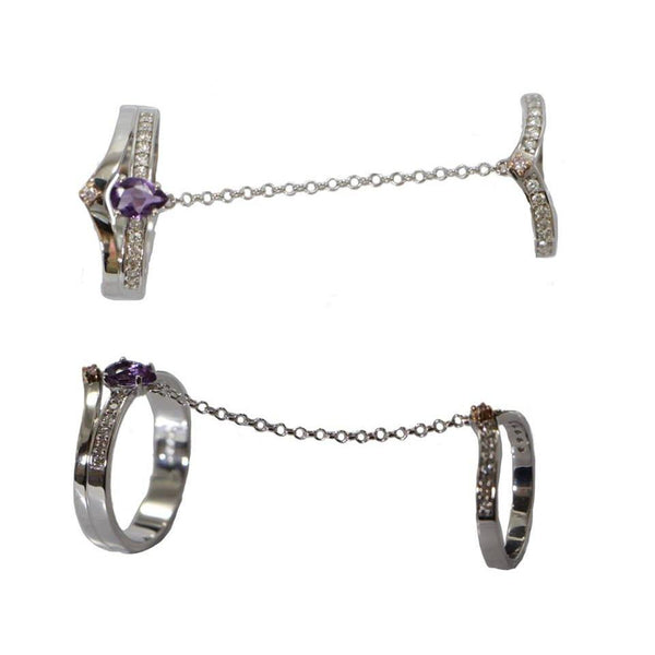 Chain |  Amethyst Ring