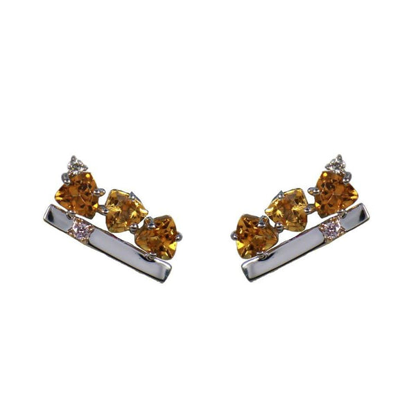 Solar |  Citrine Earrings