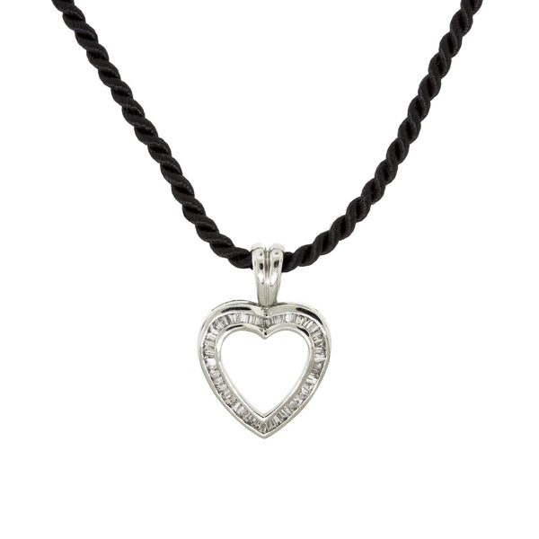 Heart Rope Diamond Necklace
