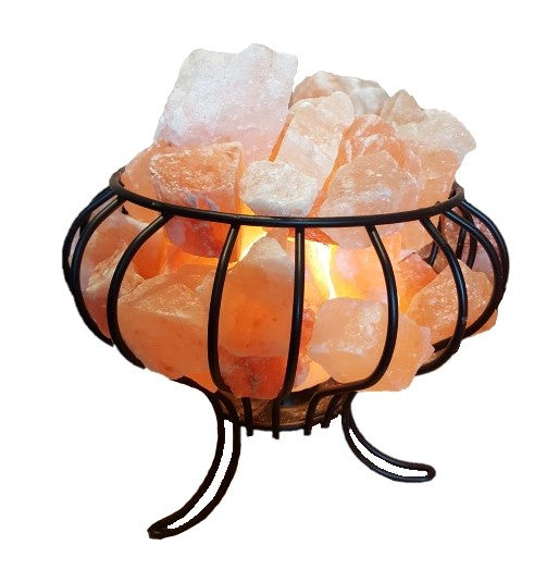 Himalayan Rock Salt Lamp - Cage