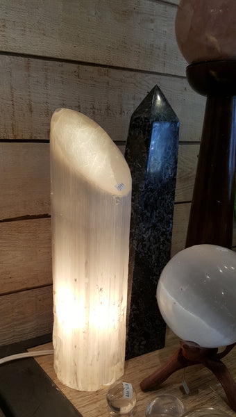 Selenite Lamp - Polished