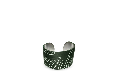 LIMITED EDITION FEARLESS METAL CUFF- Green Black