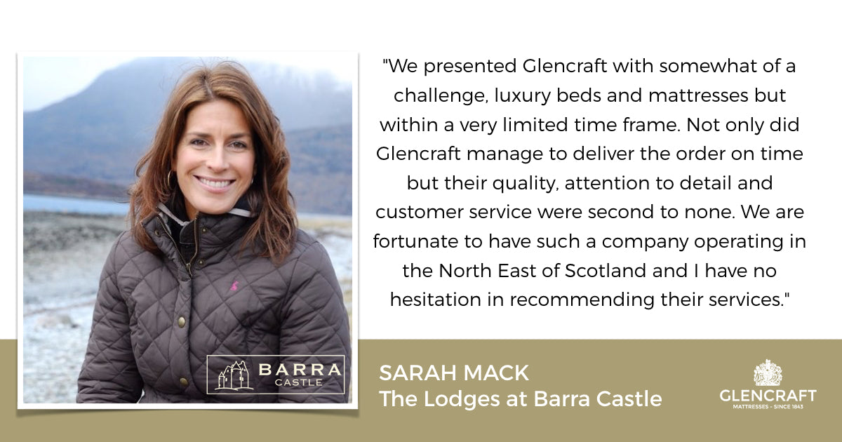 Glencraft supply Sarah Mack at Barra Castle