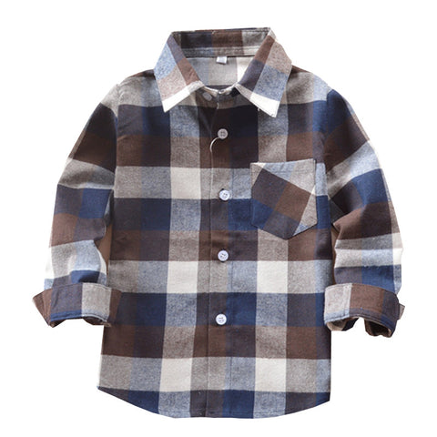 Navy & Brown Plaid Flannel