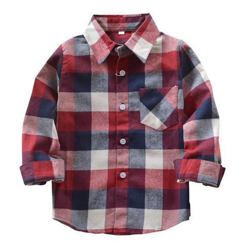 Red, Navy & Cream Flannel