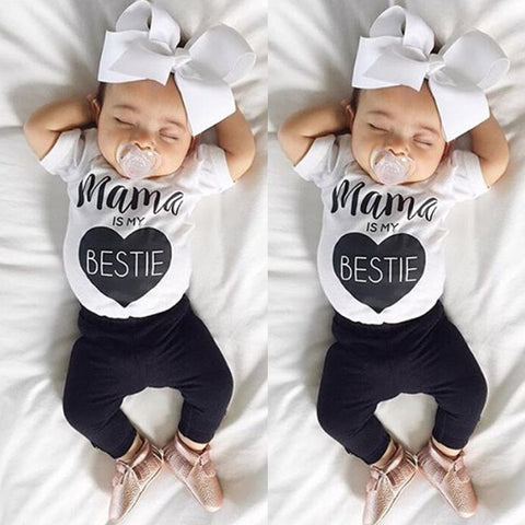 Mama Is My Bestie Tee Set