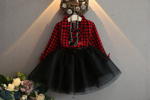 Checkered Tutu Dress