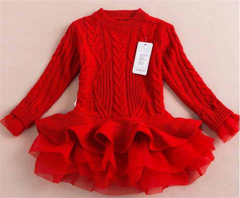 Francesca Sweater Dress (Red)