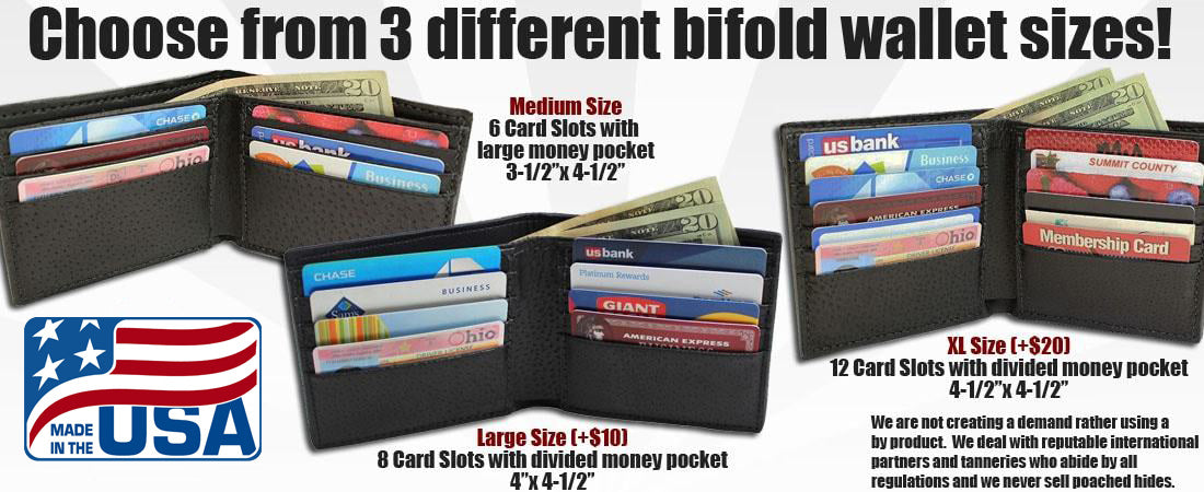 Exotic Bifold Wallets