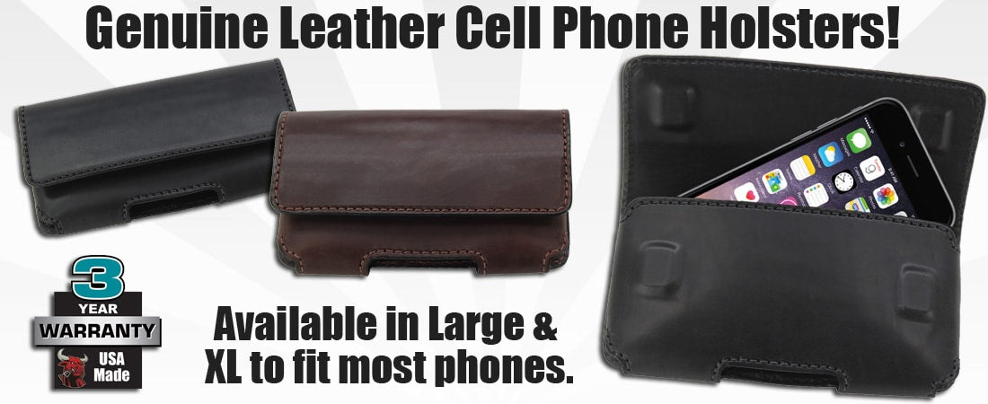 Leather Bullhide Cell Phone Holsters