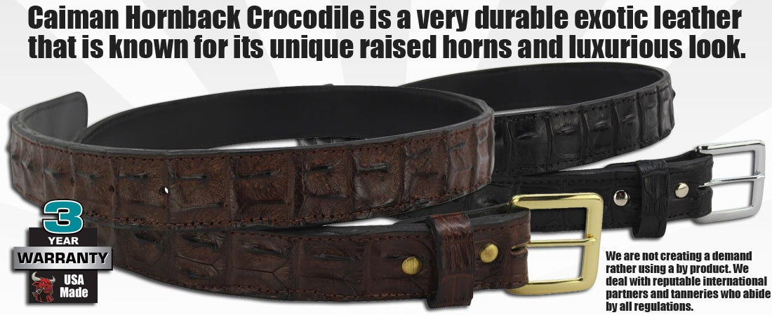 Crocodile Belts