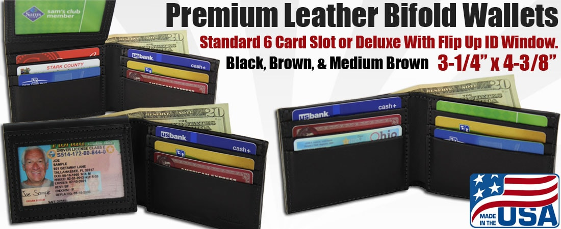 Premium Leather Bifold Wallets