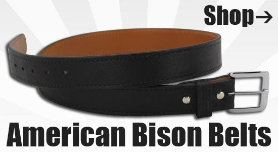 American Bison Belts