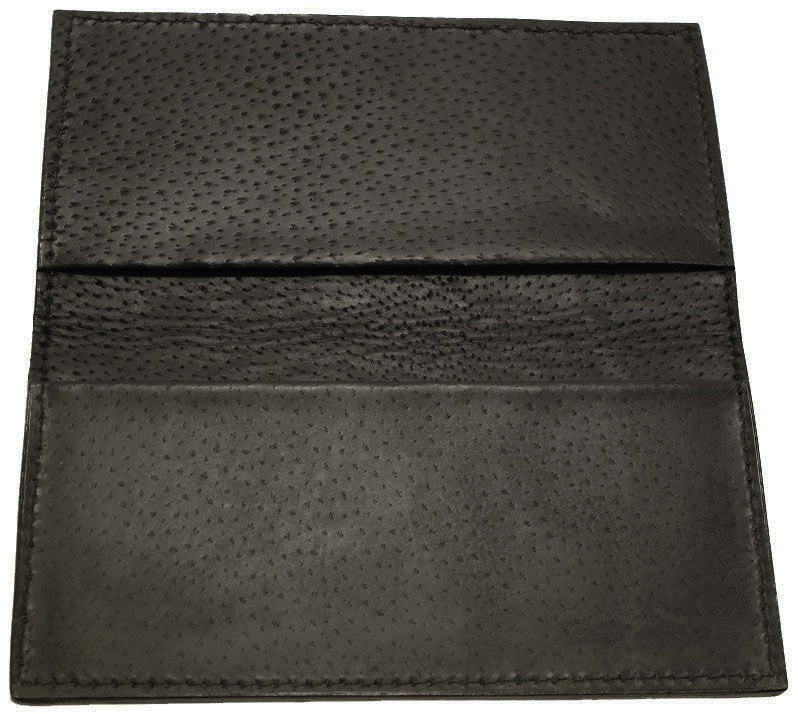 Genuine Dark Brown Elephant Checkbook Cover