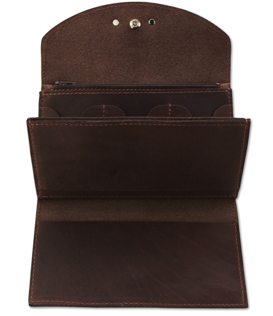 SPECIAL OFFER Brown Leather Deluxe Women's Wallet