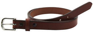 Bullhide Belts Medium Brown Stitched Bullhide Dress One Inch Wide Belt (SKU 211-34)