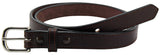 Bullhide Belts Brown Stitched Bullhide Dress One Inch Wide Belt (SKU 211-36)