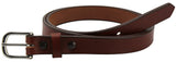 Bullhide Belts Medium Brown Smooth Edge Bullhide Dress One Inch Wide Belt (SKU 212-34)