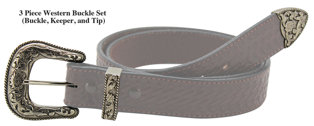 Bullhide Belts Western 3 Piece Buckle Set (1-1/2