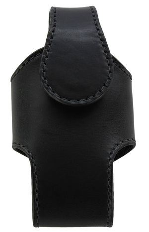 Bullhide Belts Black Bullhide Leather Vertical Cell Phone Holster Case (SKU 7030-18)
