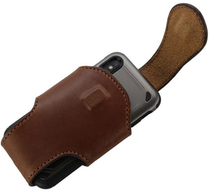 Bullhide Belts Medium Brown Bullhide Leather Vertical Cell Phone Holster Case (SKU 7030-34)