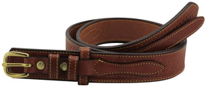 Bullhide Belts Chestnut Brown Basket Weave Ranger Belt with Small Stitching (SKU 8262-40)