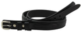 Bullhide Belts Black Raised Center Ranger Belt (SKU 8575-18)
