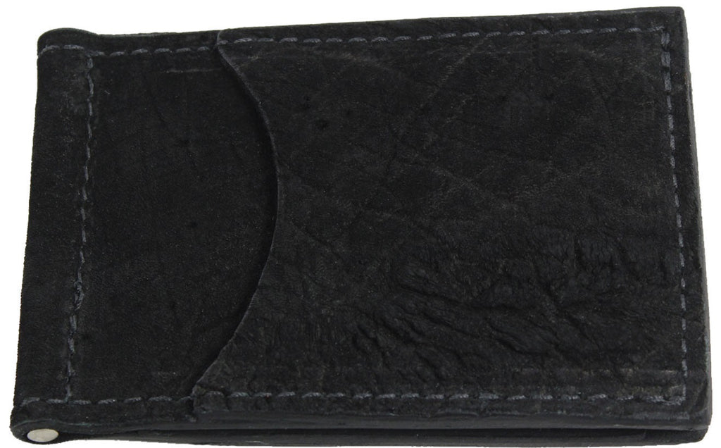 Bullhide Belts Black Hippopotamus Bifold Slim Profile Wallet With Money Clip