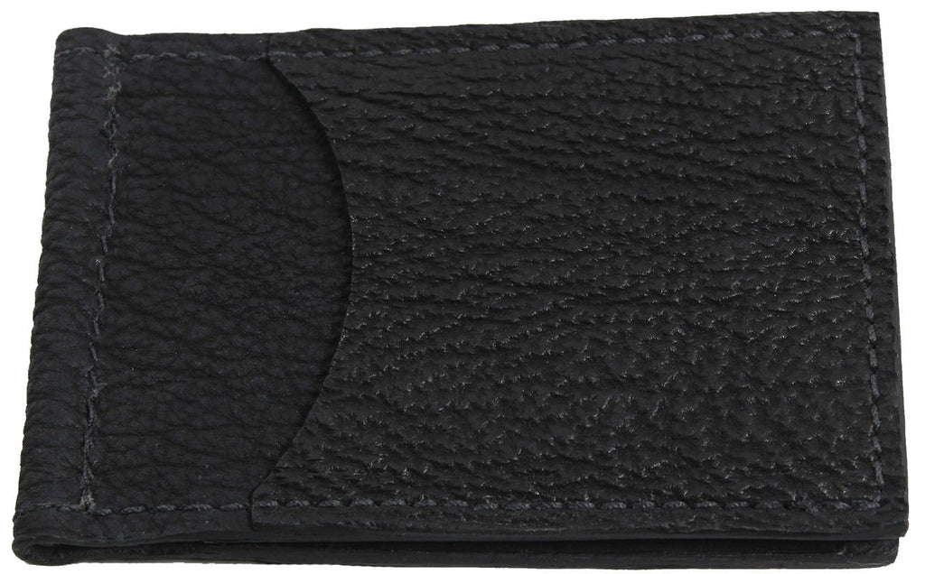 Bullhide Belts Black Shark Bifold Slim Profile Wallet With Money Clip