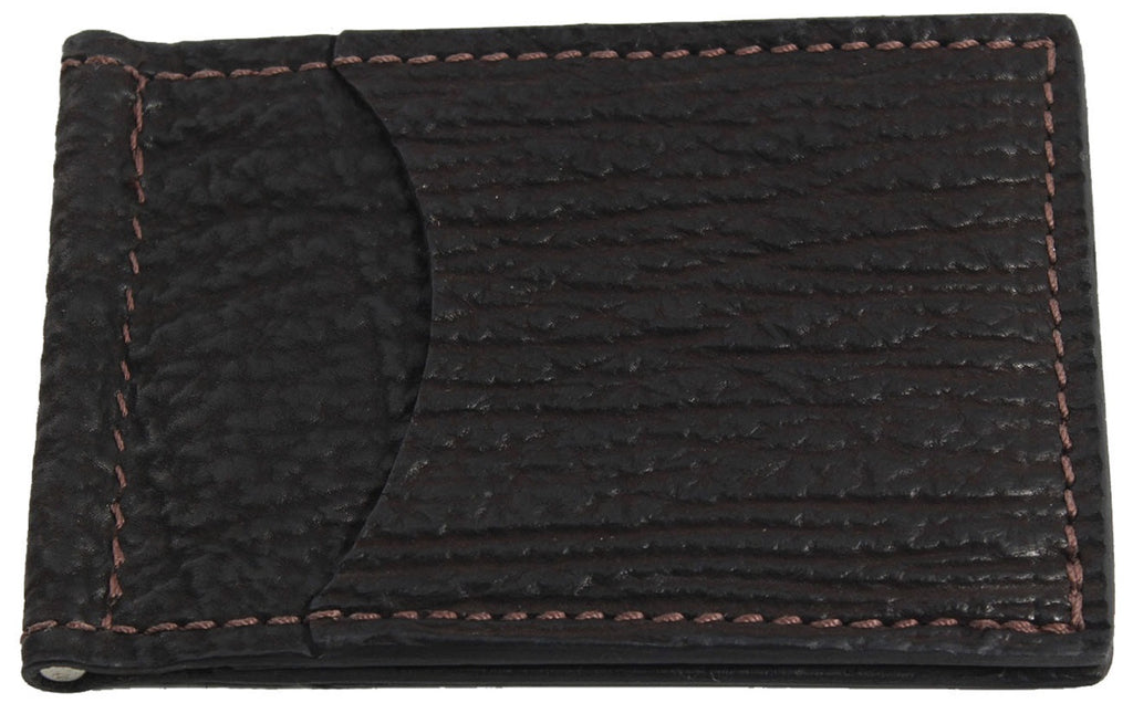 Bullhide Belts Brown Shark Bifold Slim Profile Wallet With Money Clip