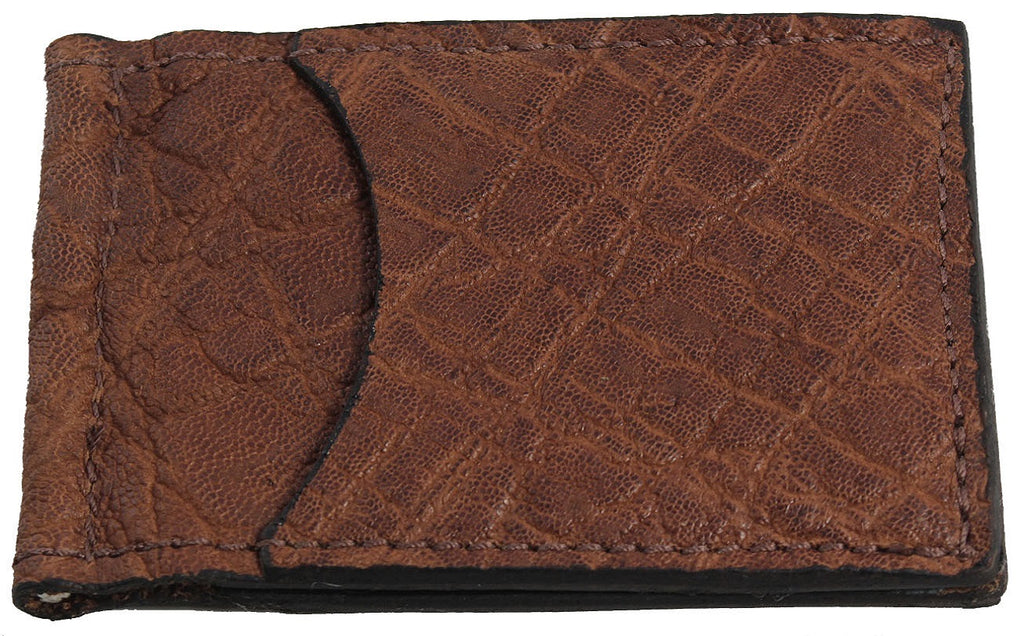 Bullhide Belts Caramel Brown Elephant Bifold Slim Profile Wallet With Money Clip