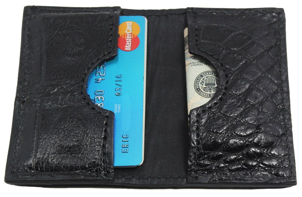 Bullhide Belts Genuine Black Alligator Credit Card Wallet